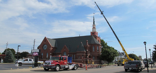 St. Mary's Steeple Installation
