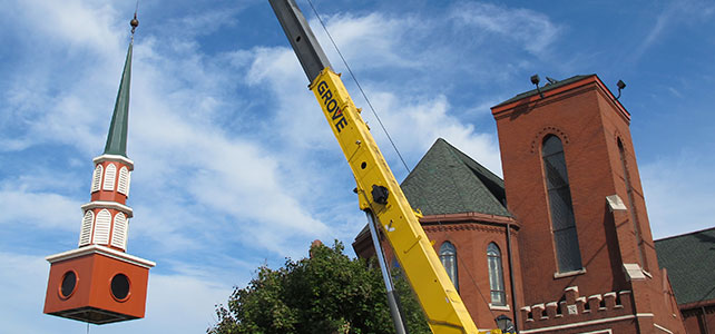 St. Mary's Steeple Installation, Canton, IL